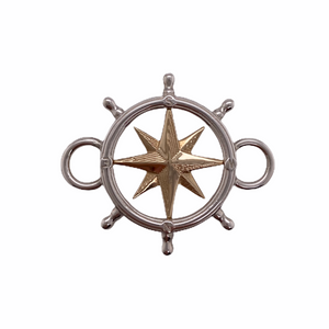 Gold & Silver Ship's Wheel Bracelet Top