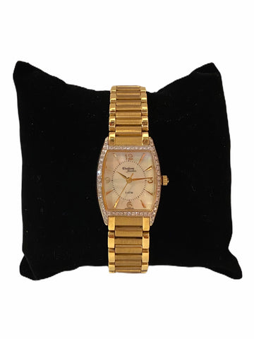 14k Yellow Gold & Diamond Ladies' Bracelet Watch