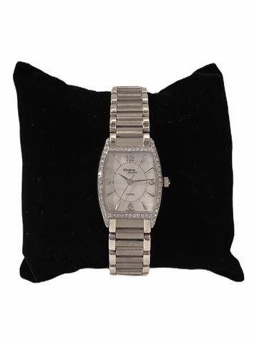 14k White Gold Ladies' Diamond Bracelet Watch