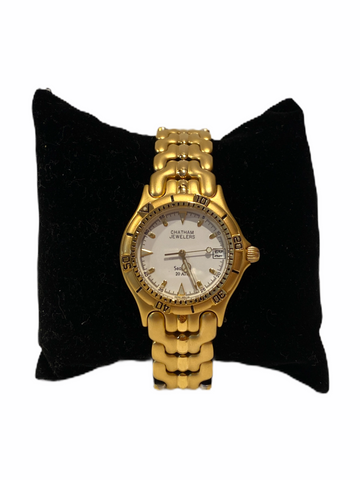 Gold-tone Stainless Steel Men's Diving Watch