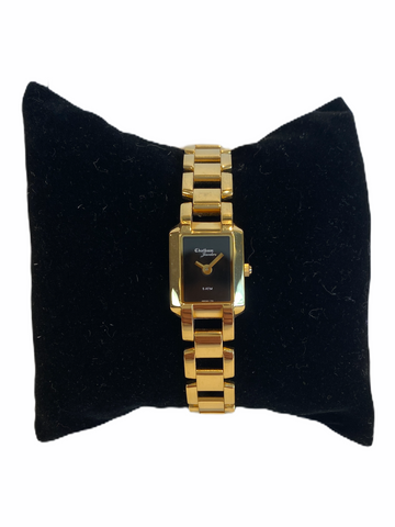 Gold-tone Stainless Steel Ladies' Fashion Link Watch
