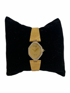 14k Yellow Gold Ladies' Diamond Watch