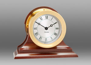 "Brass ""Presidential"" Quartz Clock"