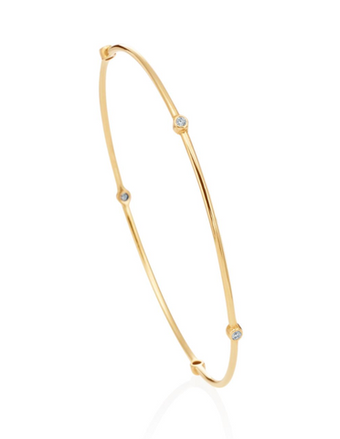 Thin Diamond Station Bangle