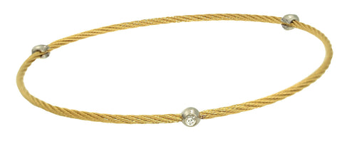 Diamond Cable Bangle