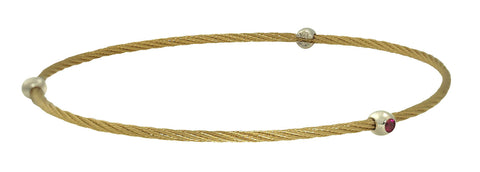 Ruby Cable Bangle