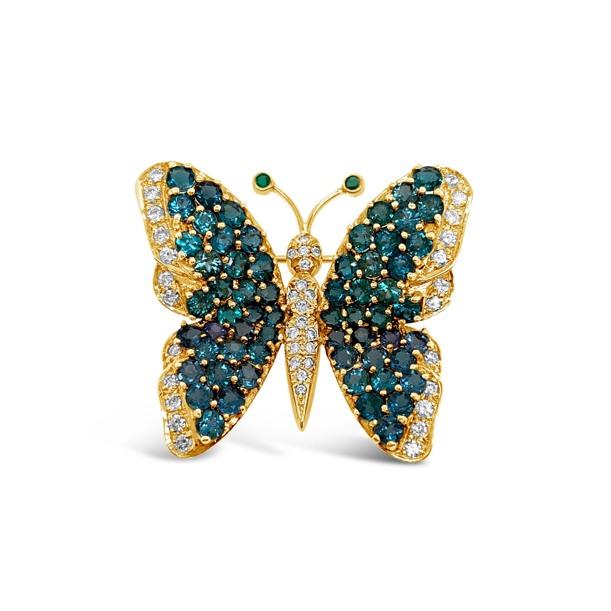 Paraiba Tourmaline Butterfly Pin