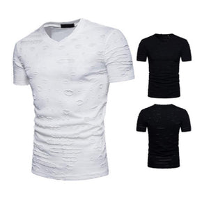 Hollow Out Style Men's Casual T-Shirts