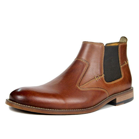 Men's Casual British Style Leather Booties