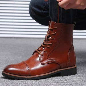 Men's Bullock carved casual Martin boots