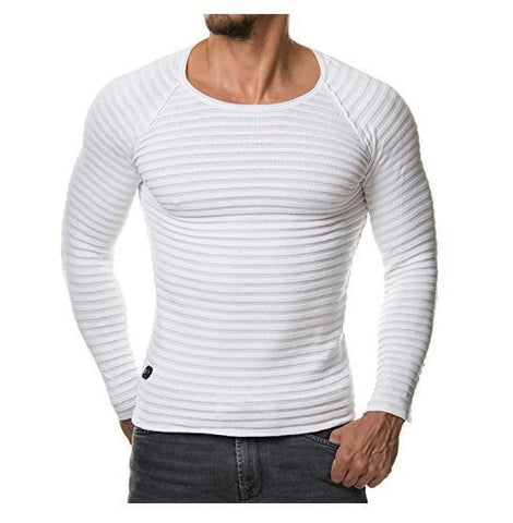 Basic Mens Long Sleeve Tshirt 6 Colors