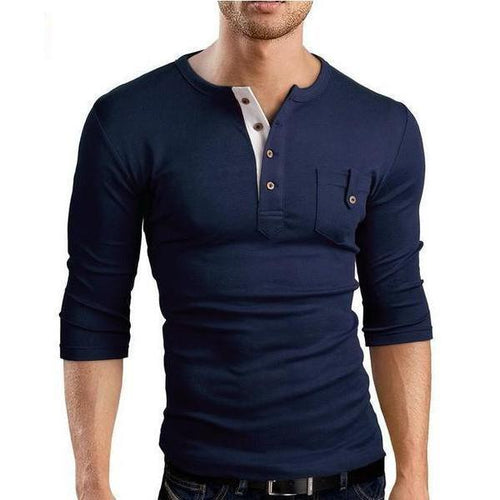 Fashion Fri-Color Casual Long-Sleeved T-Shirts