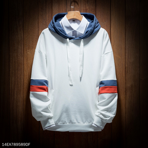 Tricolor White Hoodie