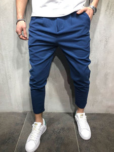 Plain Slim Fit Long Pants