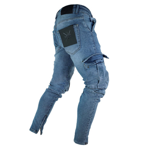 Casual Street Style Cool Hole Jeans Packets Pants