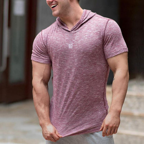 Fashion Hooded Short Sleeve Casual Plain T-Shirts