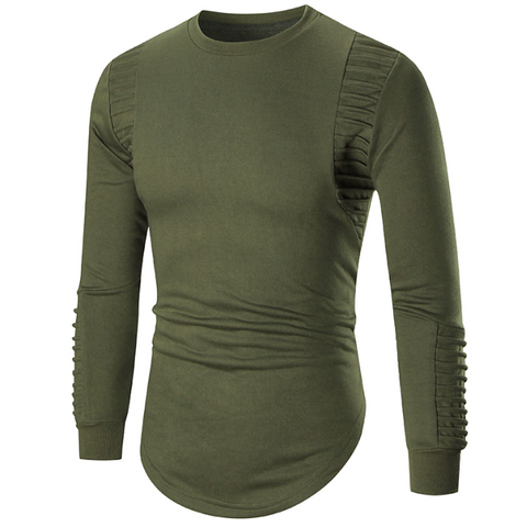 Basic Solid Color Long Sleeve Bottoming T-Shirt