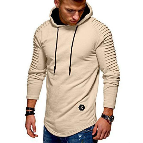 Fashion Pleated Striped Slim 5-Color Hoodie