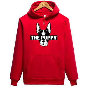 2019 New Fashion 7 Color Puppy Print Couple Hoodie