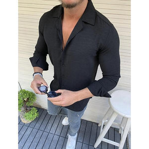Men's Fashion Minimalist 7 Color Slim Shirt