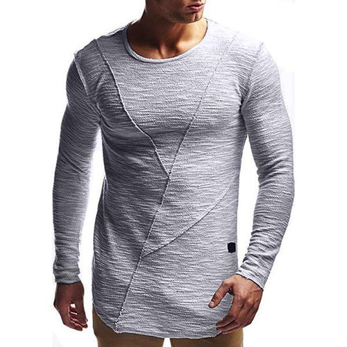 Men's Minimalist Solid Color Long Sleeve T-Shirt