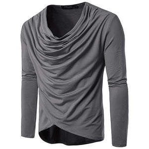 Men's Fashion Solid Color Long Sleeve T-Shirt
