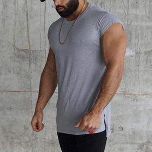 2019 Fitness Sports Solid Color Thin Sleeveless Vest
