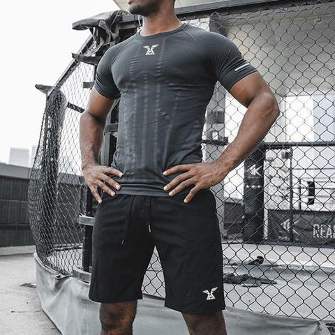 Fitness Fashion Solid Color Fast Drying T-Shirt