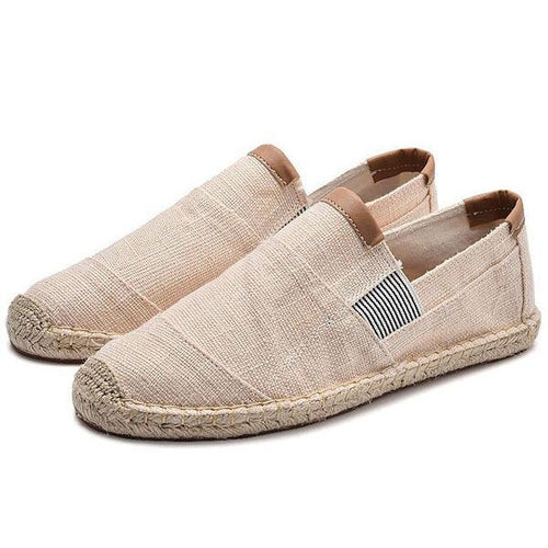 Men's Casual Canvas Shoes Straw Breathable Linen Shoes