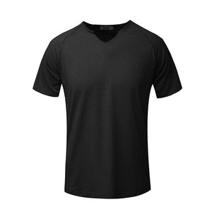 Men's Fashion Minimalist Solid Color Short Sleeve T-Shirt