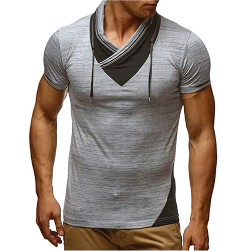 Men's Summer Sports Casual Colorblock Short Sleeves