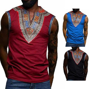 Middle Eastern Ethnic Style Printed Vest T-Shirt