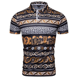 Fashion Palace Style Short Sleeve Printed Color Shirt T-Shirt