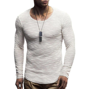 Long Sleeve Plain Fashion Man's Sweater