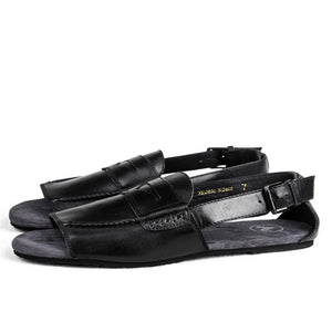 Men's leather vintage Roman sandals