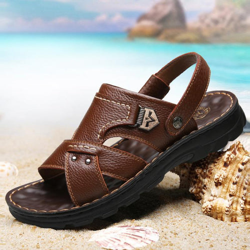 Men Casual Leather Fashion Sandals