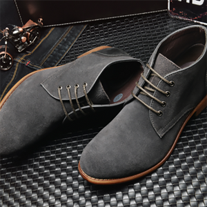 Men's Casual Lace Up Leather Boots