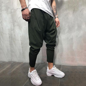 Solid color new men's casual pants