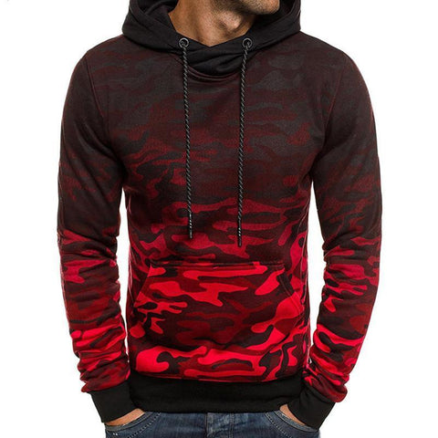 Camouflage gradient sweater casual hoodie