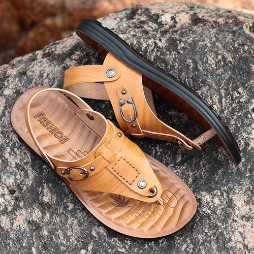 Men Casual Leather Sandals
