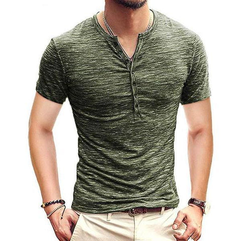 Stylish And Comfortable Open Men's Short-Sleeved T-Shirt