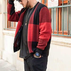 Men'S Casual Single Row Button Knitted Sweater
