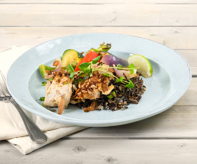 Tahini Roasted Chicken and Wild Rice