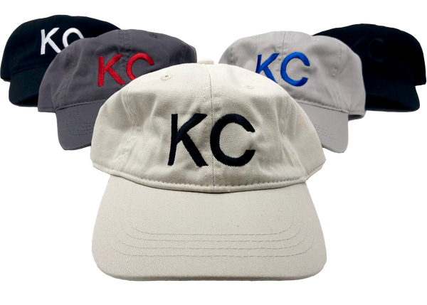 Kansas City KC Dad Hat // Gray + Blue