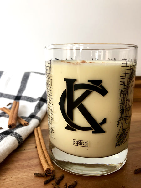 "Kansas City ""KC"" Map Glass"