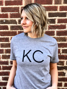 "Kansas City ""KC"" Shirt - Light Gray // Dark Font"
