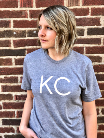 "Kansas City ""KC"" Shirt - Light Gray // Light Font"