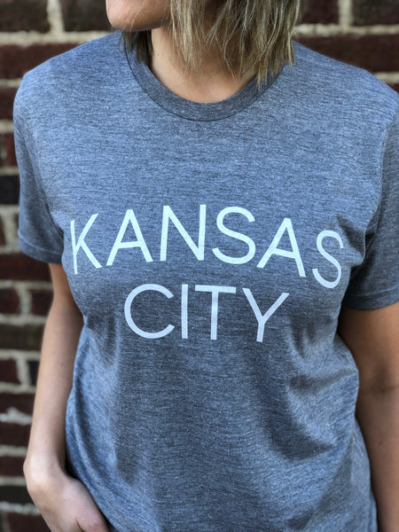 Kansas City Shirt - Light Gray // Light Font