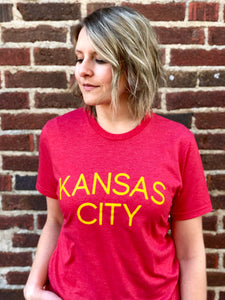 Kansas City Shirt - Red // Yellow Font