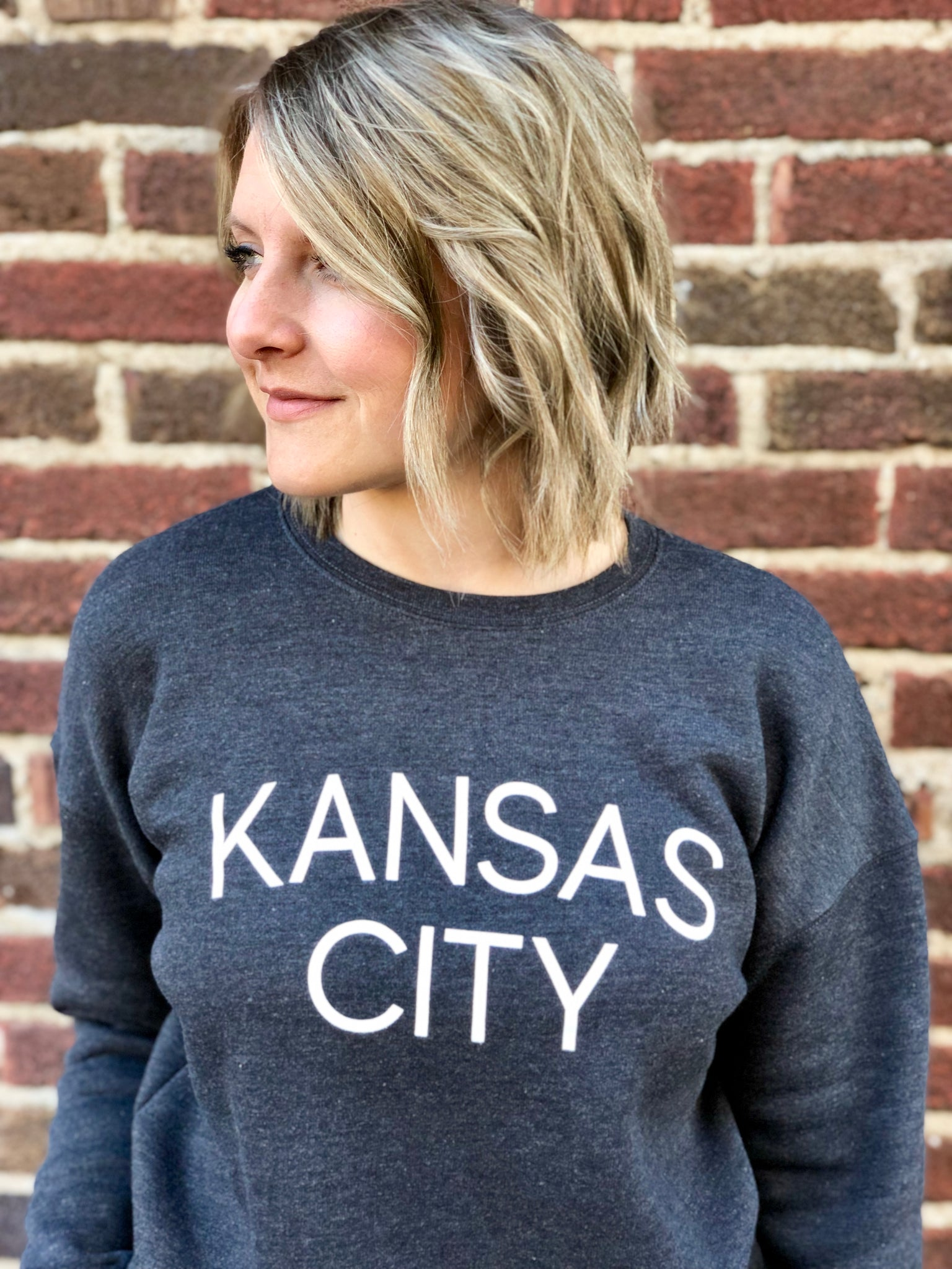 Kansas City Sweatshirt - Dark Gray // Light Font